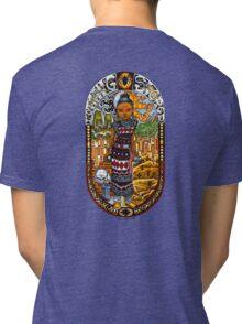 Nothing Sacred graffiti woman Tri-blend T-Shirt