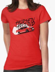 Horsen Around Mustang Womens Fitted T-Shirt