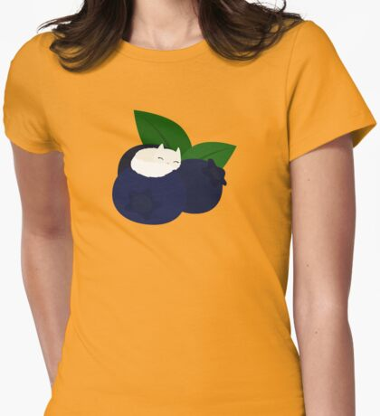 Blueberry Cat Womens Fitted T-Shirt