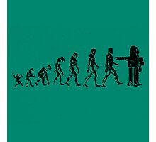 EVOLUTION SUCKS Photographic Print