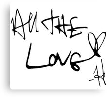 One Direction All the Love Canvas Print