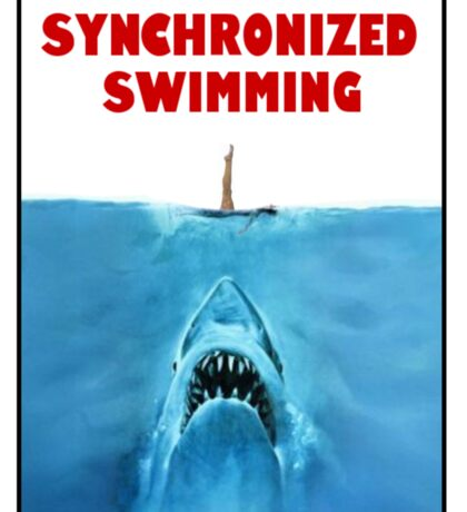 Synchronized Swimming Jaws Sticker