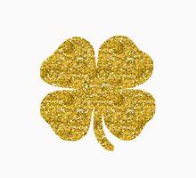 Shamrock four leaf clover gold glitter T-Shirt