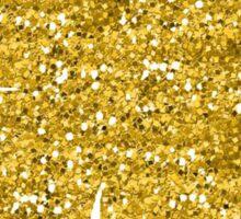 Shamrock four leaf clover gold glitter Sticker