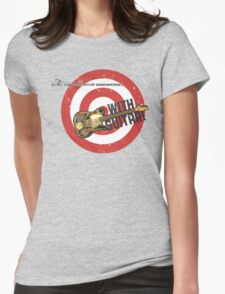 PSA With Guitar Womens Fitted T-Shirt