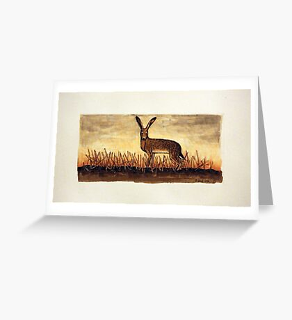 The Brown Hare Greeting Card