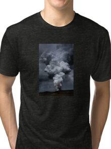 Kilauea Volcano at Kalapana 3a Tri-blend T-Shirt