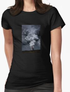Kilauea Volcano at Kalapana 3a Womens Fitted T-Shirt