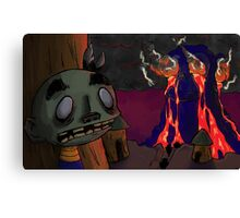 Fire Coming Out of the Monkey's Head Canvas Print