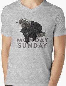 MONDAY SUNDAY Mens V-Neck T-Shirt
