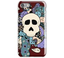 Skull Doodle (Variation #2; Purple, Blue, Cream)  iPhone Case/Skin