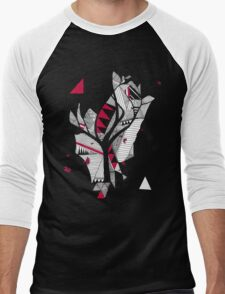 red, black, white Men's Baseball ¾ T-Shirt
