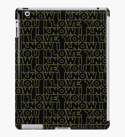 I Know iPad Case/Skin