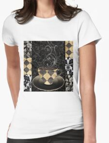 Cafe Noir Harlequin Womens Fitted T-Shirt