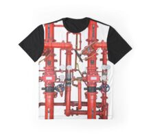 Decorative Art Red Pipes Graphic T-Shirt