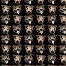 Staffy heads by Diana-Lee Saville