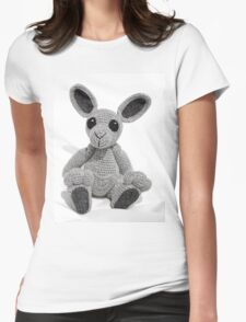 Knitted Kangaroo Womens Fitted T-Shirt