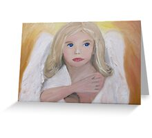 Guardian Angel oil painting Greeting Card