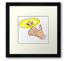 To get a finger into the sky. Framed Print