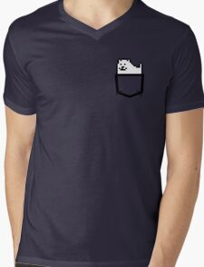 Pocket Dog Mens V-Neck T-Shirt