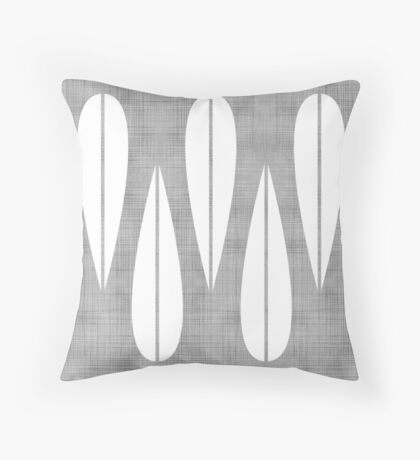 Make Mine MCM Grey Throw Pillow