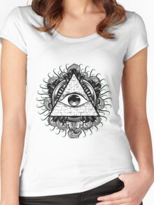 All Seeing Eye 2 Women's Fitted Scoop T-Shirt