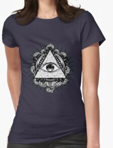 All Seeing Eye 2 Womens Fitted T-Shirt