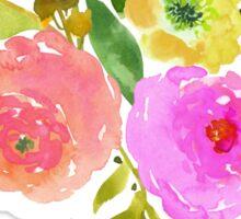 Floral Watercolor, Renunculus Sticker