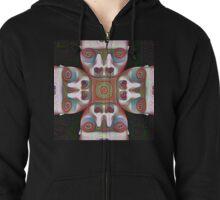 #DeepDream Masks 5x5K v1455625554 Zipped Hoodie
