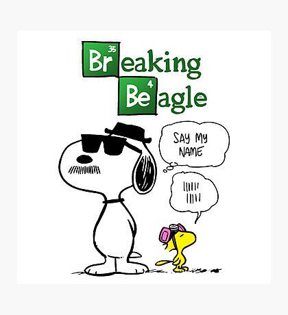 Breaking Beagle Photographic Print
