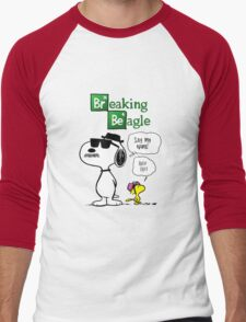 Breaking Beagle Men's Baseball ¾ T-Shirt