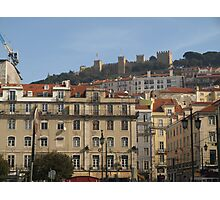 Lisbon, Fort at top Photographic Print