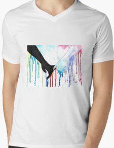 Love Sees No Color Mens V-Neck T-Shirt