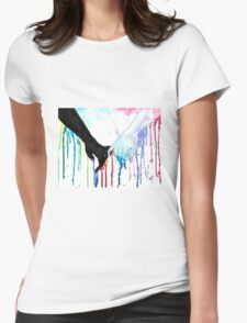 Love Sees No Color Womens Fitted T-Shirt