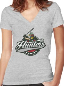 Bounty Hunters baseball  Women's Fitted V-Neck T-Shirt