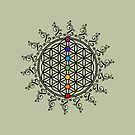 FLOWER OF LIFE, CHAKRAS, SPIRITUALITY, YOGA, ZEN,  by nitty-gritty