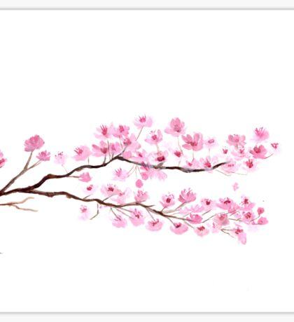 Cherry blossom watercolor Sticker