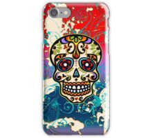 Mexican Sugar Skull, Dias de los muertos, Days of the Dead iPhone Case/Skin