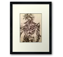 Broken Raiden Framed Print