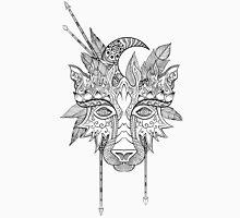 Boho wolf indian totem head Unisex T-Shirt