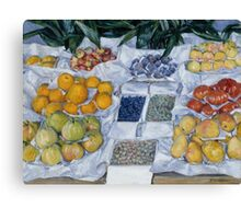 Gustave Caillebotte - Fruit Displayed on a Stand about 1881 - 1882 Canvas Print
