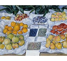 Gustave Caillebotte - Fruit Displayed on a Stand about 1881 - 1882 Photographic Print