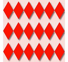 Diamonds and Red Gingham Photographic Print
