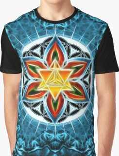 Merkaba, Flower Of Life, Metatrons Cube, Sacred Geometry Graphic T-Shirt