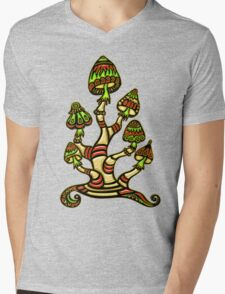 Magic mushrooms, Plants of the Gods, psychedelic, Trance Goa Psy  Mens V-Neck T-Shirt