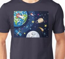Saturn in the Space 5 Unisex T-Shirt