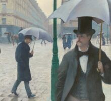 Gustave Caillebotte - Paris Street; Rainy Day 1877 , Landscape Sticker