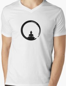 Enso Zen Circle of Enlightenment,  Meditation, Buddha, Buddhism, Japan Mens V-Neck T-Shirt