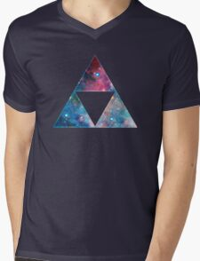 Triforce - Ancient Magical Symbol, Sierpinski Triangle Mens V-Neck T-Shirt