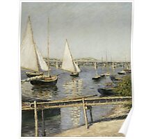 Gustave Caillebotte - Sailing Boats at Argenteuil 1888 Poster